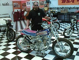 Jeff Seiser with the Evel Knievel XR750 Replica