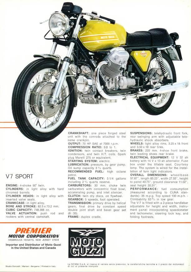 moto guzzi v7 sport for sale