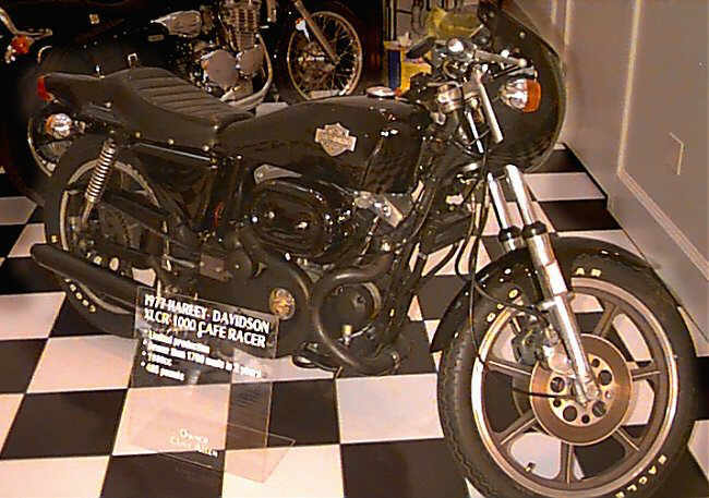 """1977 Harley Davidson XLCR """"Cafe Racer"""" From Allen Museum Collection collection. Beautiful, show condition example of this rare Harley classic."""